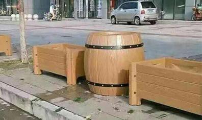 公园仿木花箱