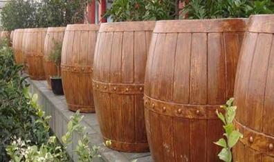 圆形仿木花箱