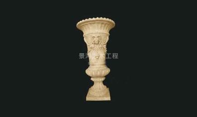柱形雕塑花盆