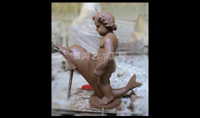 欧式小孩雕塑