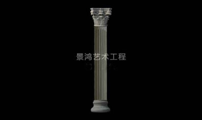 grc欧式构件圆形柱罗马柱
