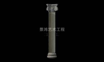 grc水泥欧式构件方形罗马柱