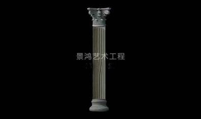 grc水泥欧式构件光面型罗马柱