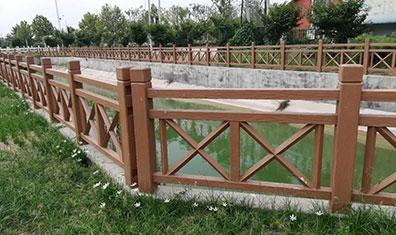 叉型仿木护栏