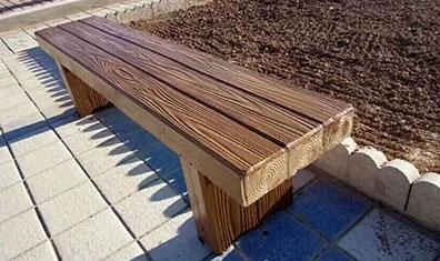 仿木纹长凳